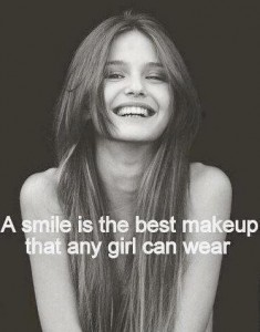 A smile is the best make-up