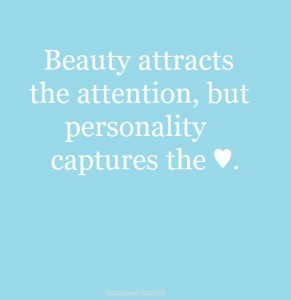 Beauty attracts the attention