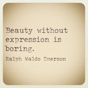 Beauty without expression