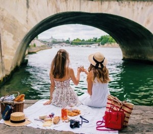 Picnic with friend